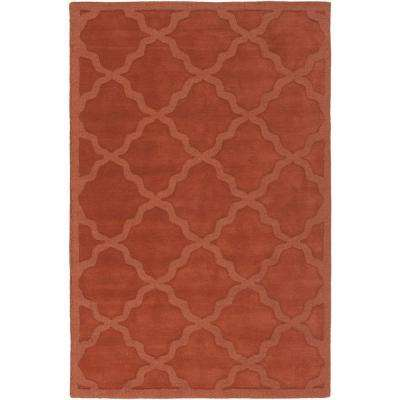 Central Park Abbey Rust 4 ft. x 6 ft. Indoor Area Rug