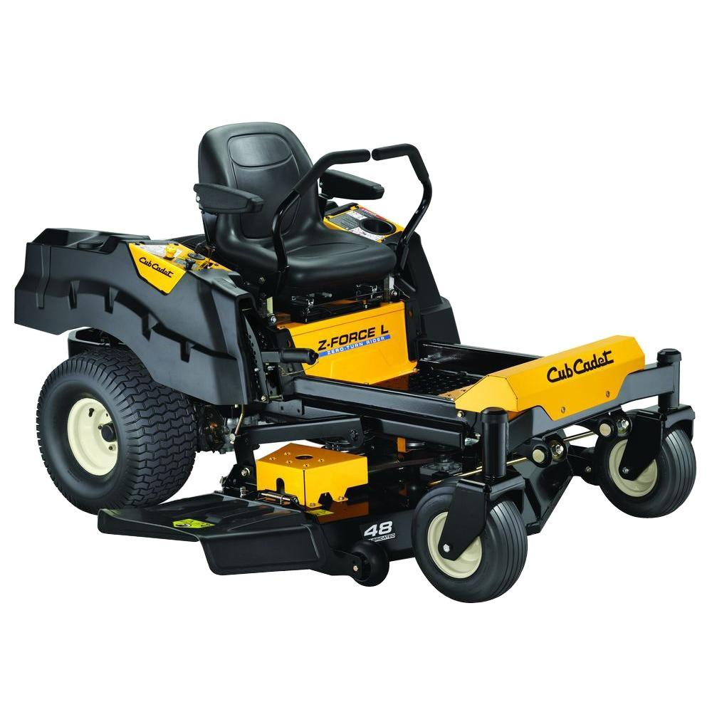 Cub Cadet Zero Turn Lawn Mower : Cub cadet z force l in hp fabricated deck kohler