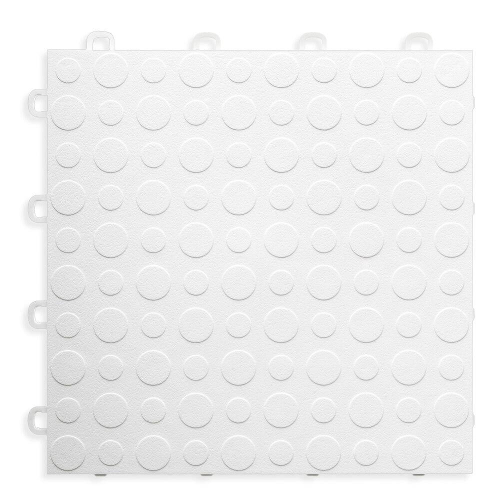 White - 12 in. x 12 in. Modular Interlocking Garage Floor Tile (Set of 30)
