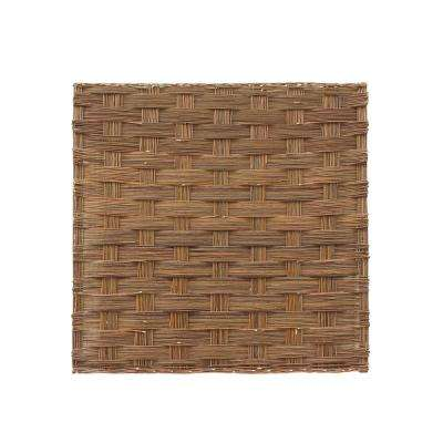 72 in. W x 72 in. H Braided Willow Fence Panel