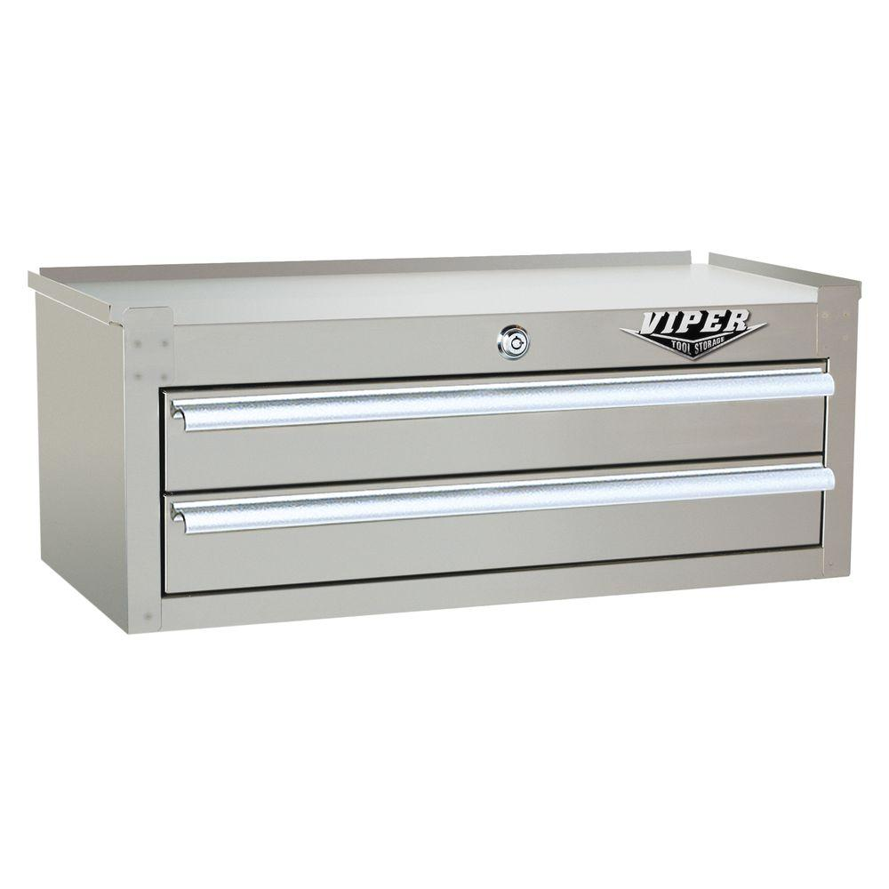 Viper Tool Storage 26 in. 2-Drawer Intermediate Chest with 304 Stainless Steel