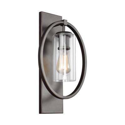 Marlena 1-Light Antique Bronze Wall Sconce