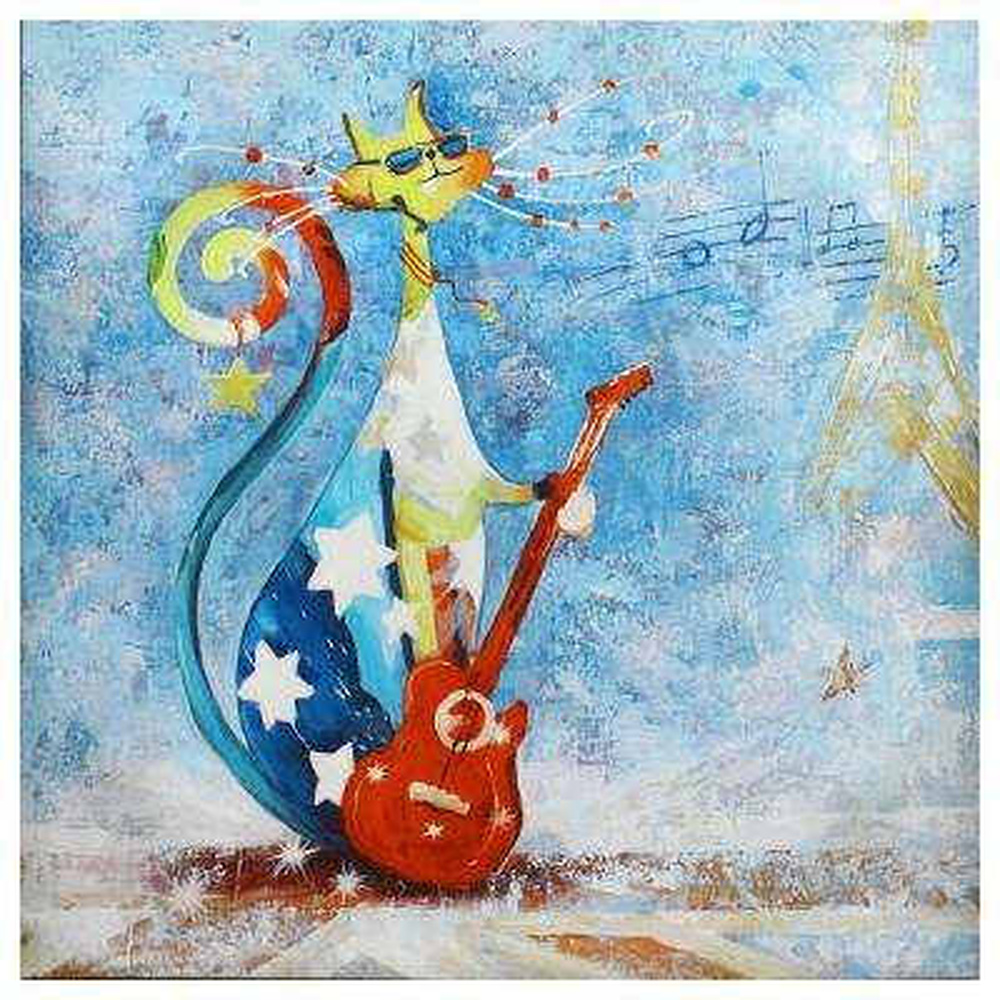 """24 in. x 24 in. """"A Rock Star"""" Canvas Print Unframed Wall Art"""