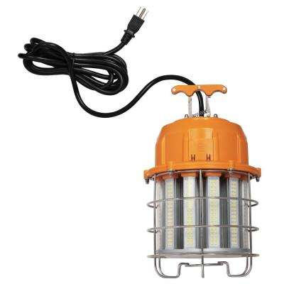 100-Watt Orange and Chrome Integrated High-Lumen LED Plug-In Work Light