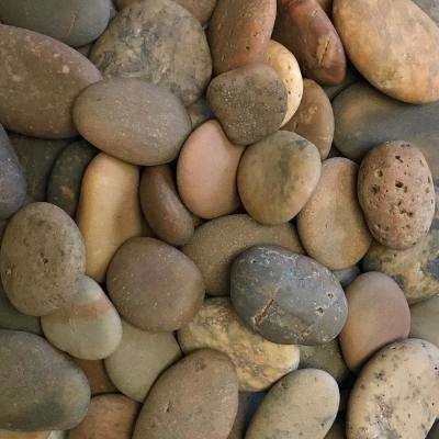 0.25 cu. ft. 20 lbs. 1/2 in. to 1-1/2 in. Buff Button Mexican Beach Pebble
