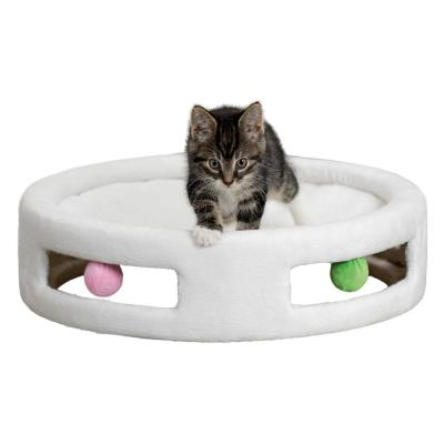 Cream Plush Hammock with Toys