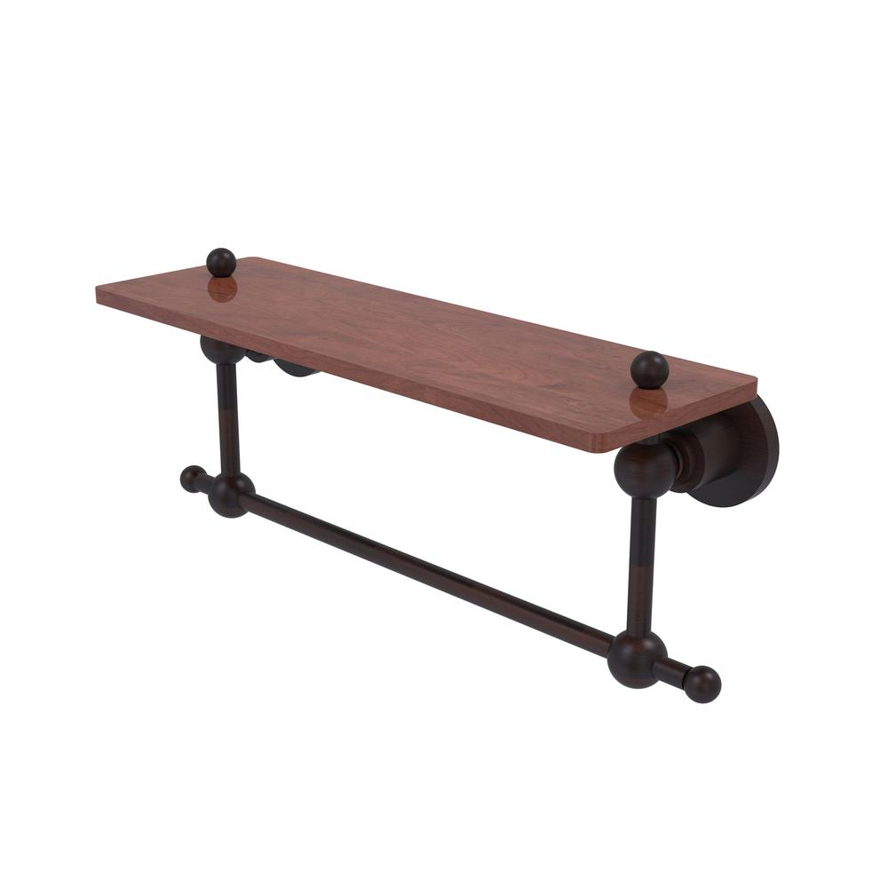 Astor Place Collection 16 in. Solid IPE Ironwood Shelf with Integrated