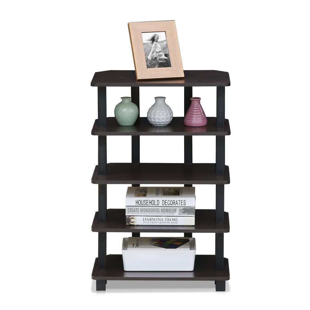 Turn-N-Tube Espresso 5-Tier Corner Storage Shelf