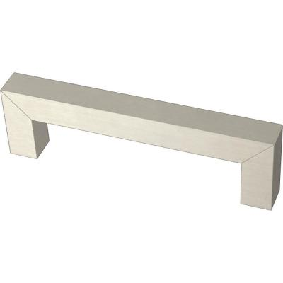 Modern Square Bar Pull 3-3/4 in. (96 mm) Stainless Steel Drawer Pull