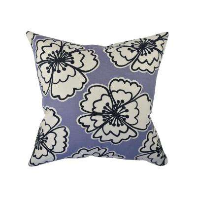 Bold Purple Blooms Throw Pillow