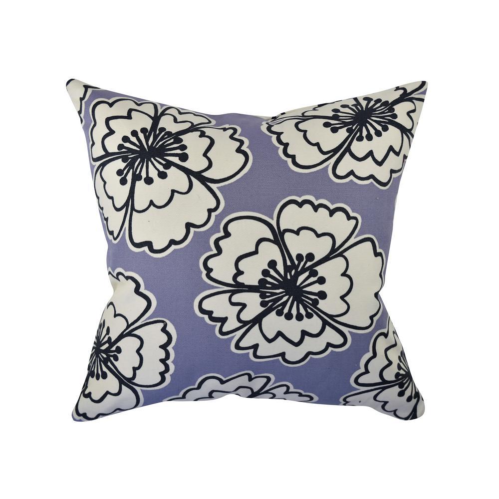 Bold Purple Blooms Throw Pillow