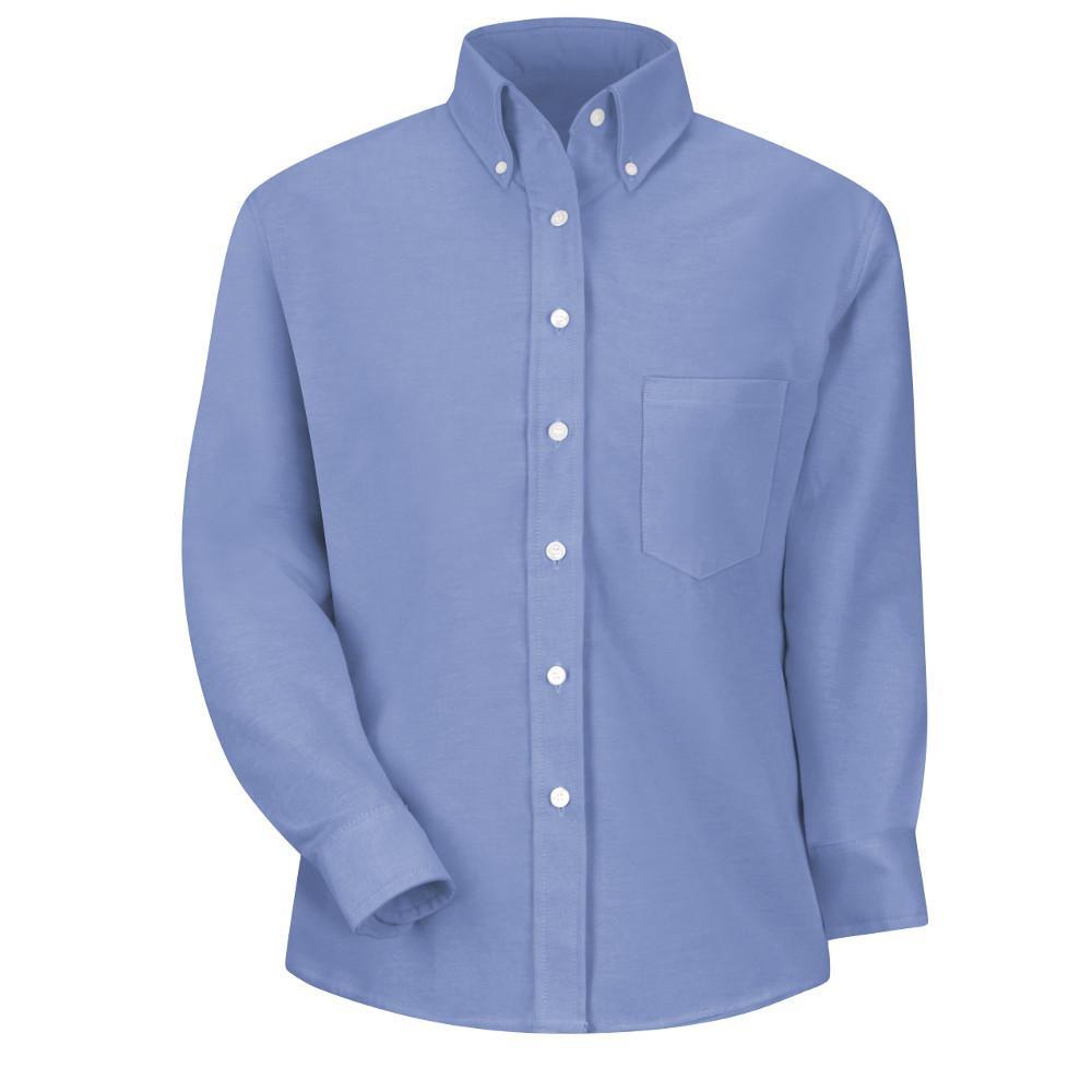 8760d5d517 Red Kap Women s Size 6 Light Blue Executive Oxford Dress Shirt ...