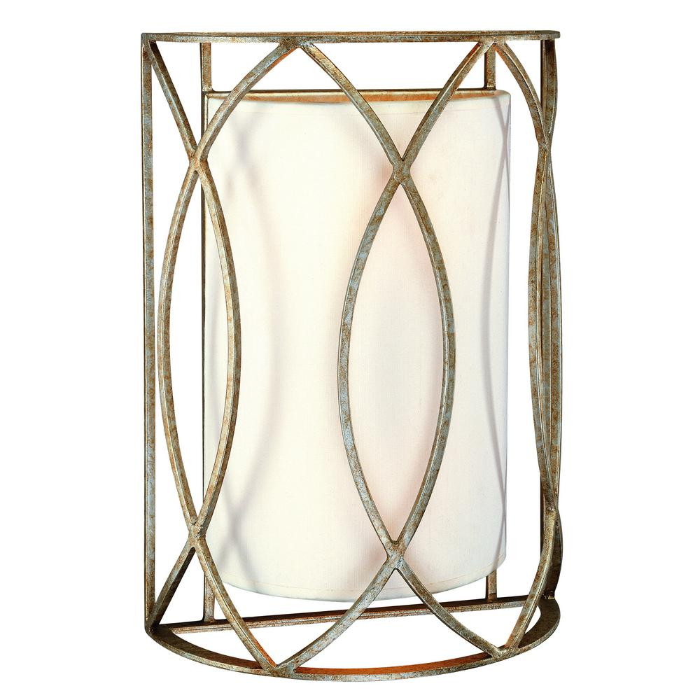 Troy Lighting Sausalito 2 Light Silver Gold Wall Sconce