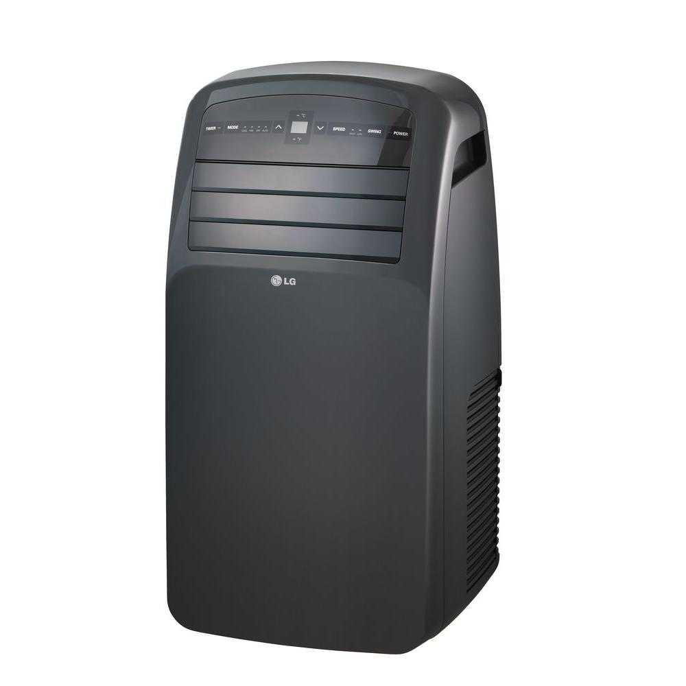 LG Electronics 12,000 BTU Portable Air Conditioner and Dehumidifier Function with Remote in Gray