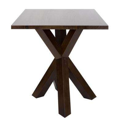 Ridgefield Natural Thick Solid Walnut Wood Top End Table