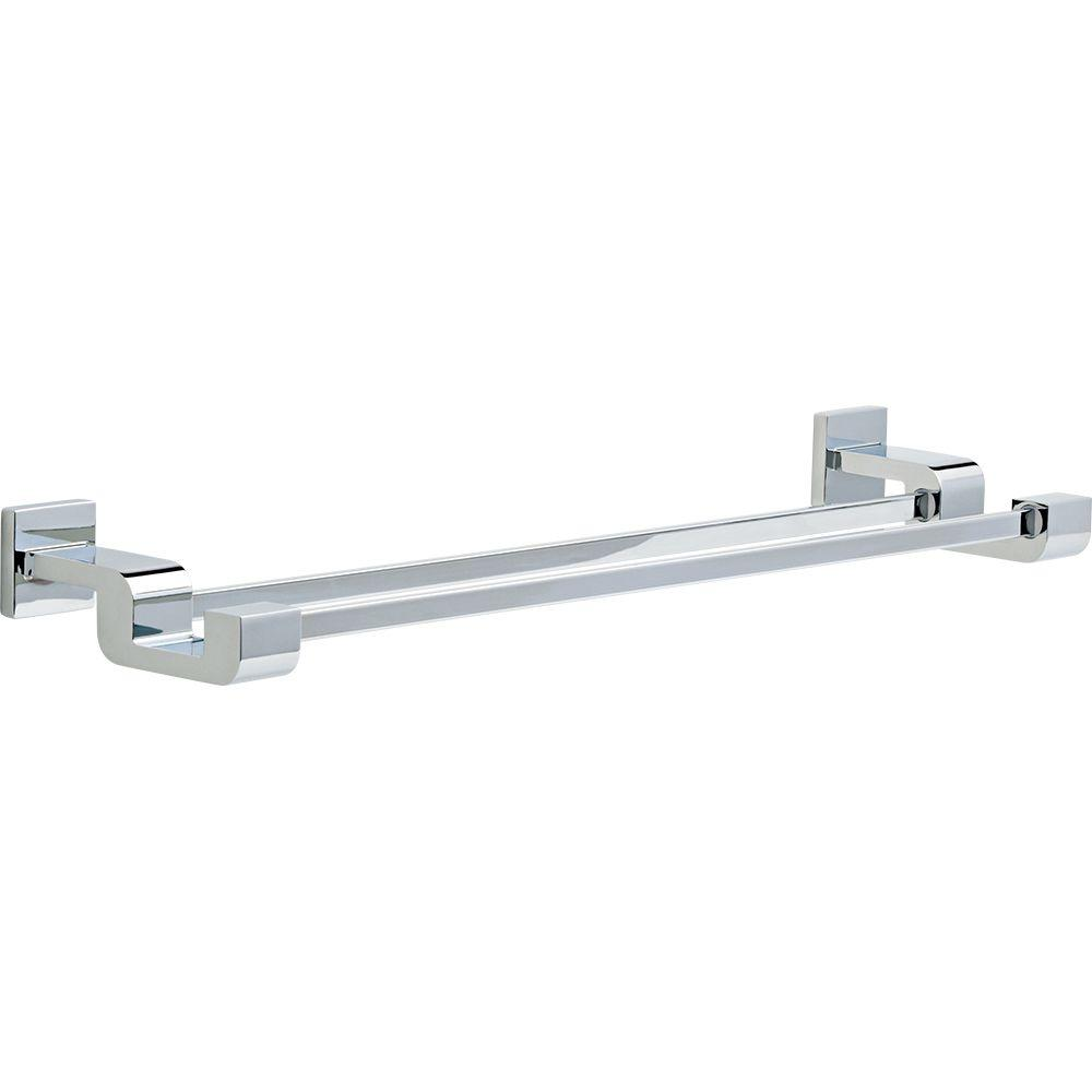 Ara 24 in. Double Towel Bar in Chrome