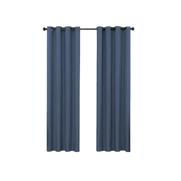 Bryson 52 in. W x 84 in. L Blackout Window Panel in Indigo