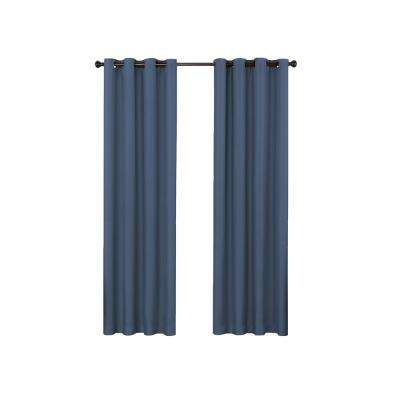 Bryson 52 in. W x 108 in. L Blackout Window Panel in Indigo