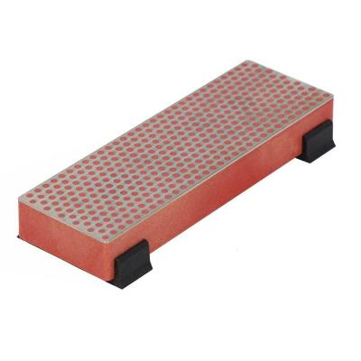 6 in. Diamond Whetstone Bench Stone with Rubber Feet