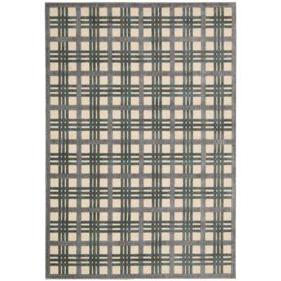 Graphic Illusions Ivory/Taupe 3 ft. 6 in. x 5 ft. 6 in. Area Rug