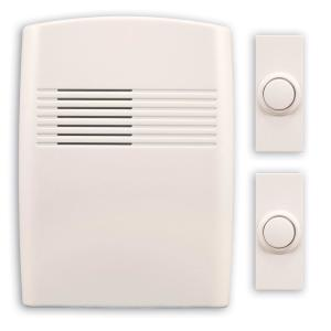 Heath Zenith Wireless Battery Operated Off-White Door Bell Kit with 2-Push... by Heath Zenith