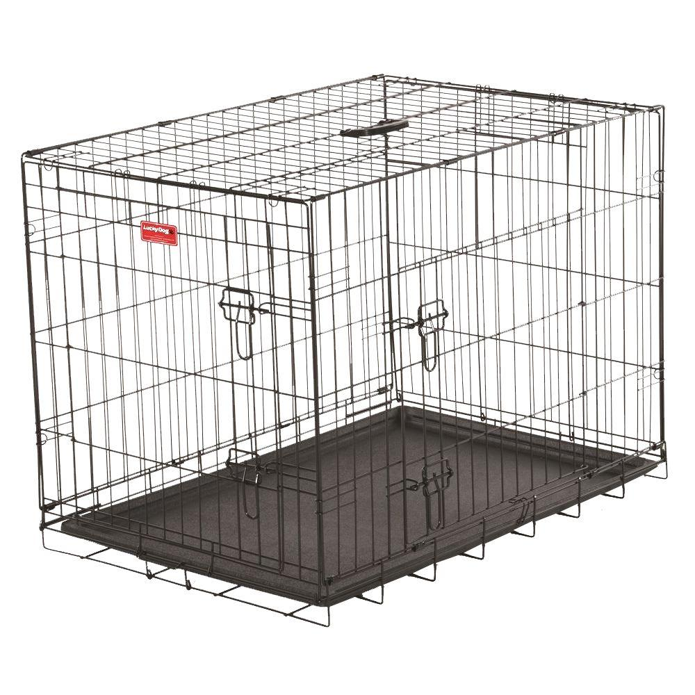 Lucky Dog 30 In Long Training Crate With 2 Door Zw 11530 The Home
