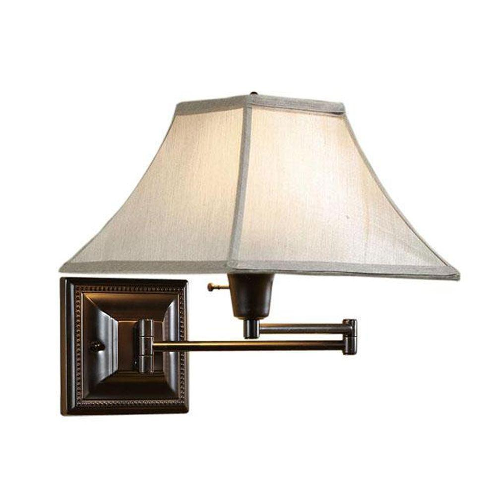 Home Decorators Collection Kingston Bronze Swing-Arm Pin-Up Lamp