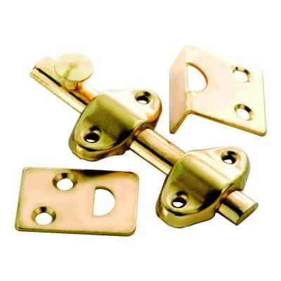 3 in. Polished Brass Surface Door Bolt