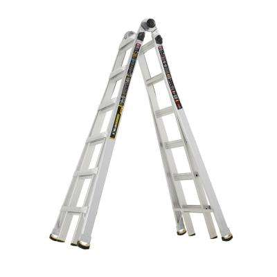 26 ft. Reach MPX Aluminum Multi-Position Ladder with 375 lb. Load Capacity Type IAA Duty Rating