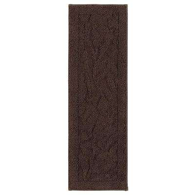 Foliage Indoor Stair Tread Covers in Chocolate 9 in. x 29 in. Stair Tread Cover Set (Set of 4)