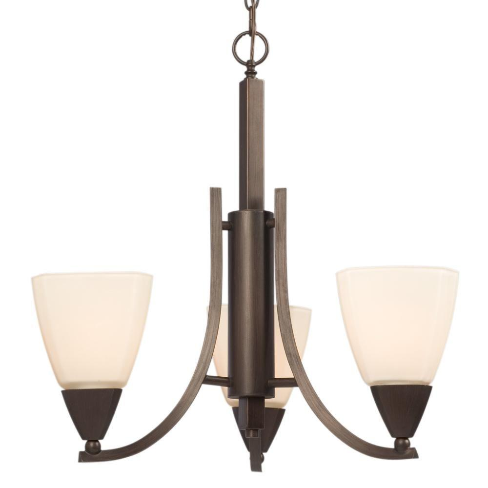 Filament Design Negron 3-Light Bordeaux Incandescent Chandelier