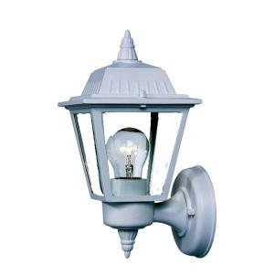 Builder's Choice Collection 1-Light Textured White Outdoor Wall Lantern Sconce
