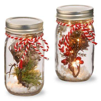 Holiday Accent Mason Jar Set with Lights
