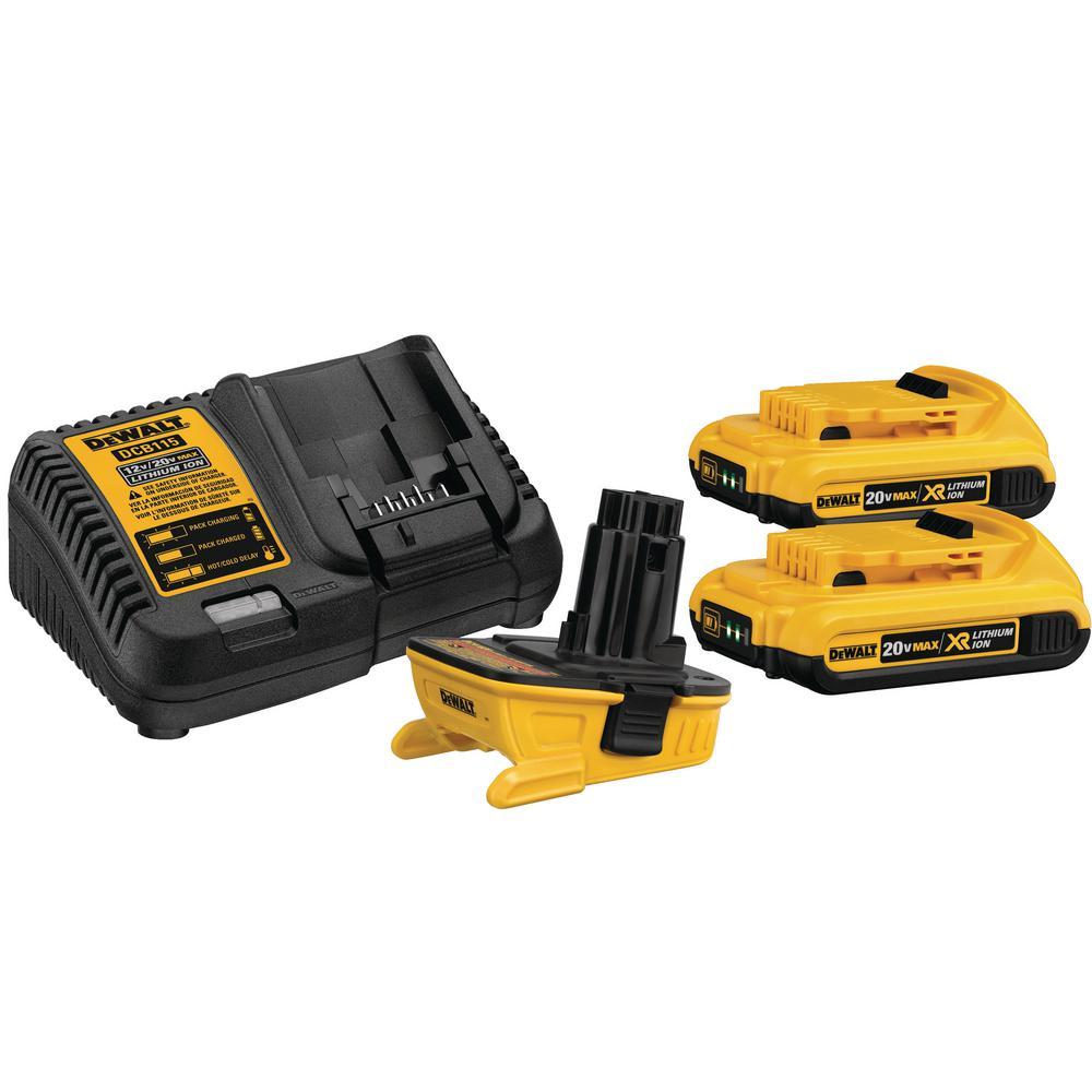 DEWALT 18-Volt to 20-Volt MAX Lithium-Ion Battery Adapter Kit (2-Pack)