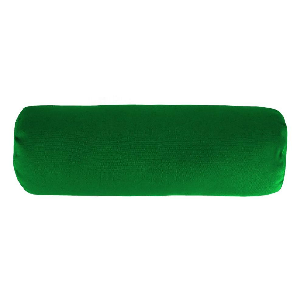 Sunbrella 7 in. x 20 in. Canvas Forest Green Bolster Outdoor