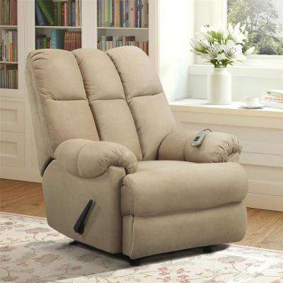 Padded Tan Massage Chair Recliner