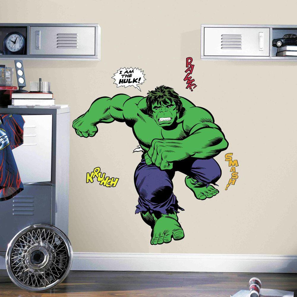5 in. x 19 in. Classic Hulk Comic 19-Piece Peel and