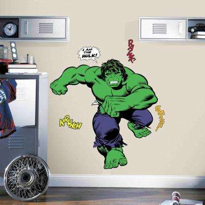 5 in. x 19 in. Classic Hulk Comic 19-Piece Peel and Stick Giant Wall Decal
