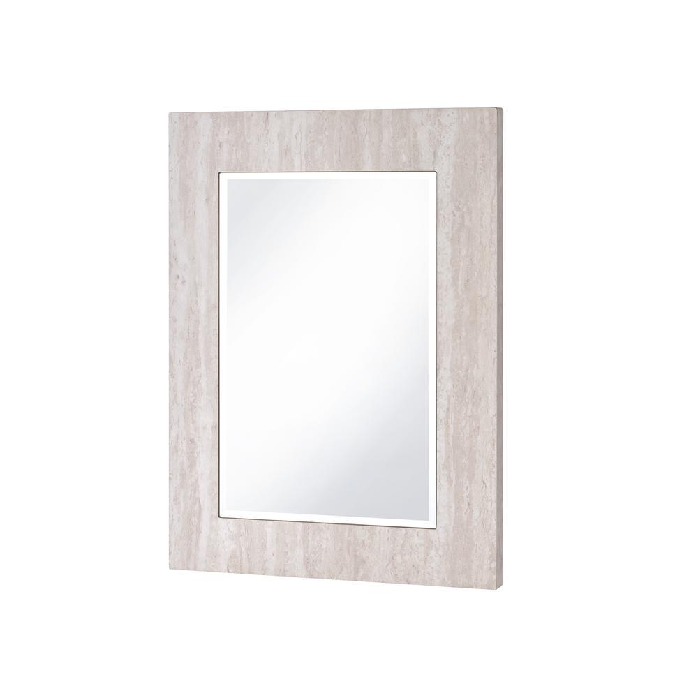 Batette 31.2 in H x 23.75 in W Faux Marble Framed Wall Mirror