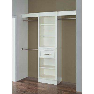 16 in. D x 72 in. W x 84 in. H Parisian White Wood Double Closet System