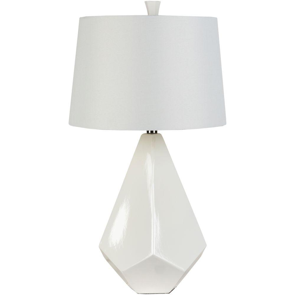 Eckert 27 in. White Indoor Table Lamp