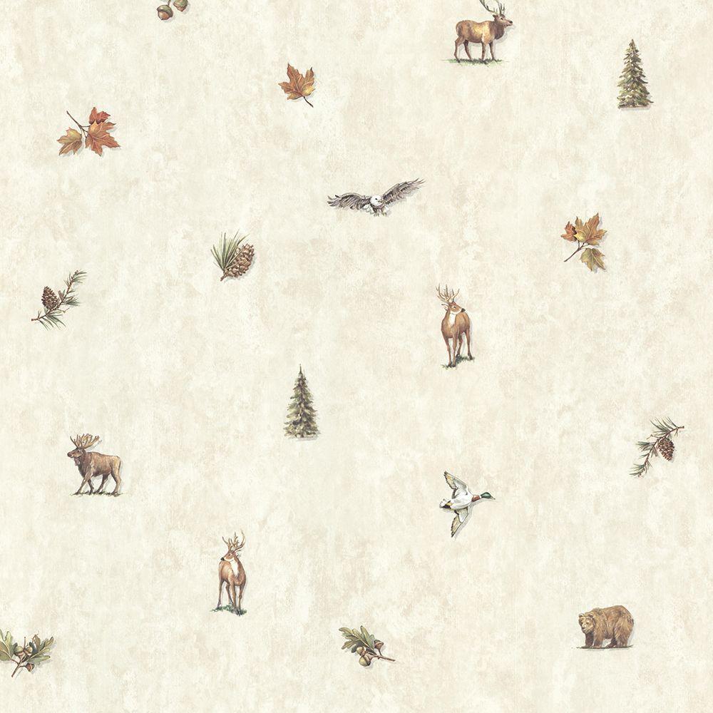 Hiram Fog Animal Toss Wallpaper Sample