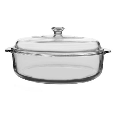 Baker's Basics 2-Piece Glass Casserole Set with Cover