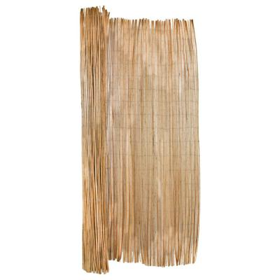 6 ft. H x 8 ft. L Carbonized Willow Wood Garden Fence