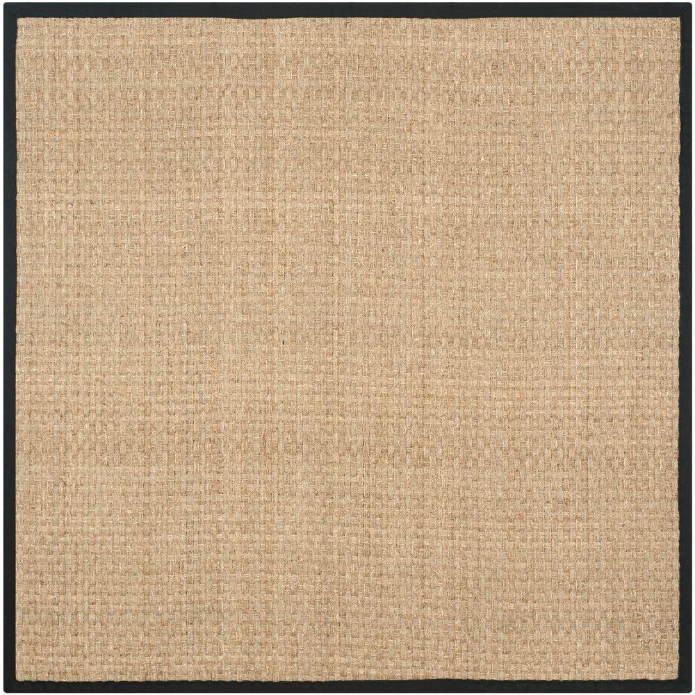 Safavieh Natural Fiber Beige Black 10 Ft X 10 Ft Square