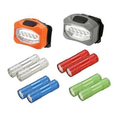LED Flashlight and Headlight Set (10-Pack)