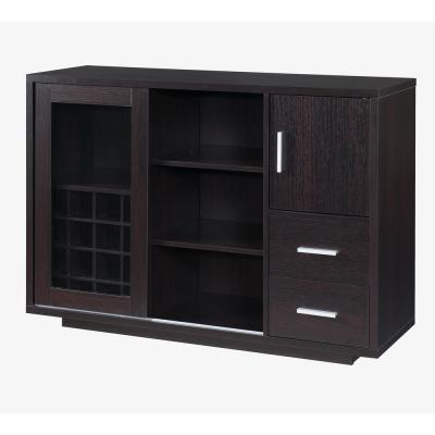 Begna 16-Bottle Cappuccino Wine Cabinet