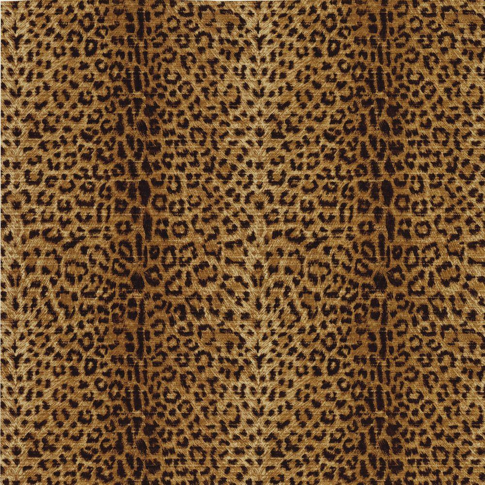 The Wallpaper Company 56 sq. ft. Black and Brown Leopard Print Wallpaper