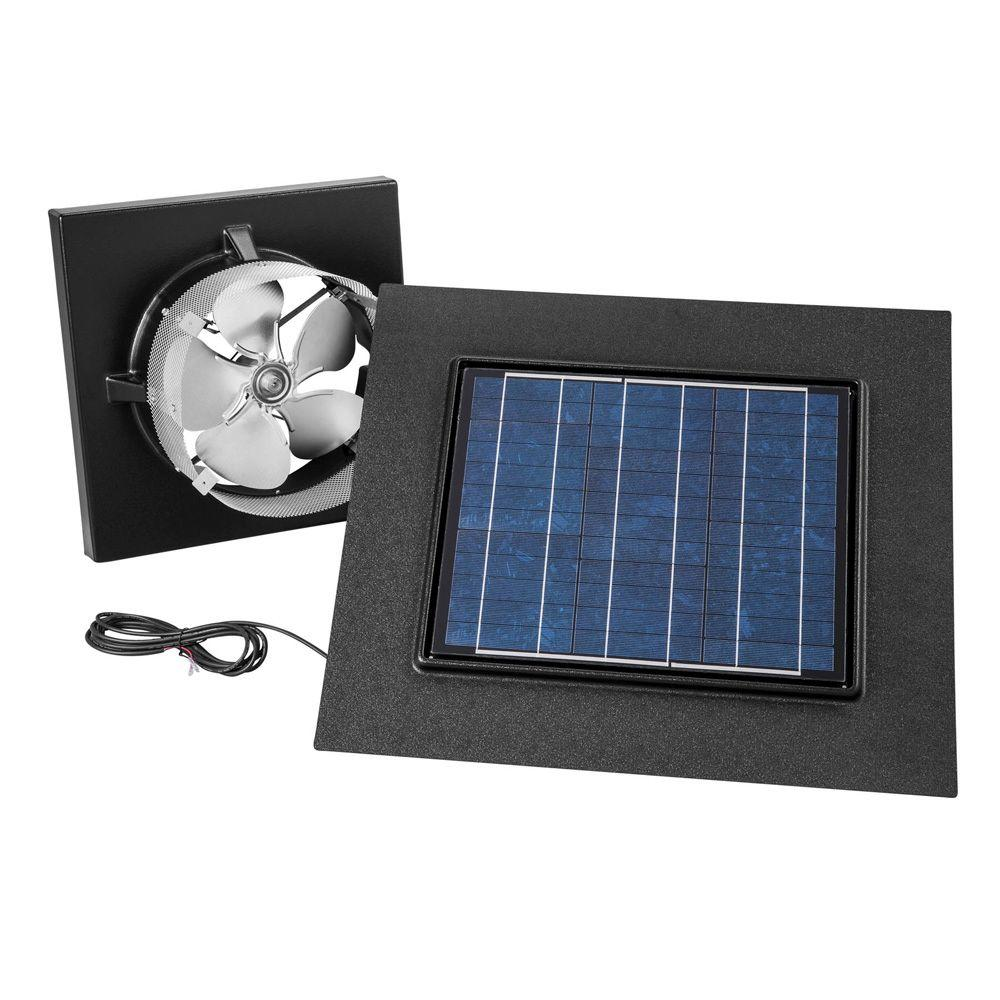 Broan 28 Watt Solar-Powered Black Gable Mount Attic Vent-345GOBK ...