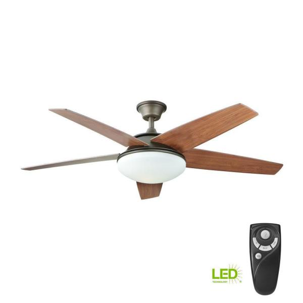Home Decorators Collection Piccadilly 52 In Led Indoor Espresso Bronze Ceiling Fan With Light Kit And Remote Control Yg503 Eb The Home Depot